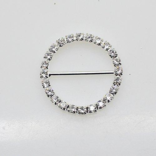 Lot de 20 28 mm x 28 mm rond en forme de strass Boucle coulissant pour mariage Invitation Lettre
