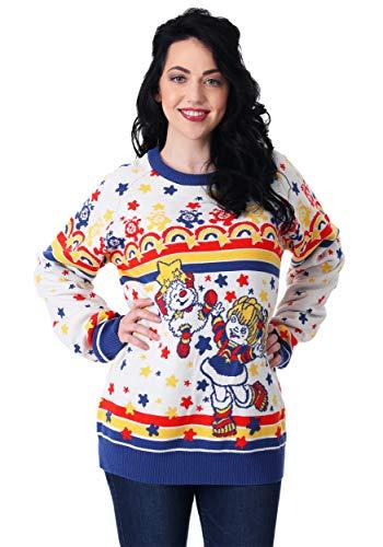 Adult Rainbow Brite Ugly Christmas Sweater Rainbow Brite - S