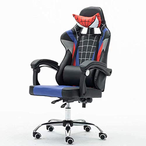 Pkfinrd Racing Gaming 3D Silla con reposabrazos, respaldo alto ergonómico Bucket Seat PC Game Chair