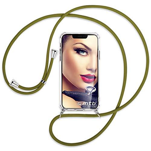 mtb more energy Collar Smartphone para Motorola Moto G9 Play (6.5'') - Caqui - Funda Protectora ponible - Carcasa Anti Shock con Cuerda Correa