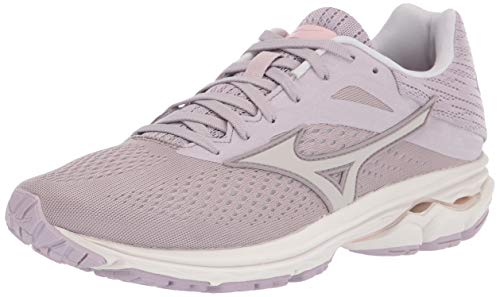 Mizuno Women's Wave Rider 23 Running Shoe, Cloud Grey-Wind Chime, 9 B