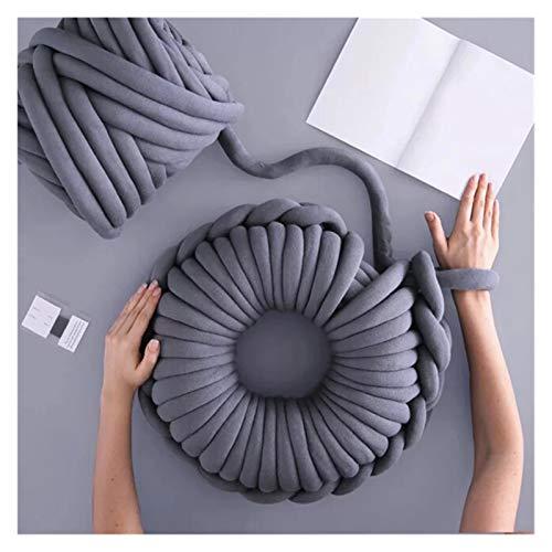 Hilo mullido jumbo 500 g de 49 pulgadas de espesor del brazo volumino de punto Manta ROVING Manta grande suave y hilado de hilo de hilado de hilo para crochet/alfombra/sombreros