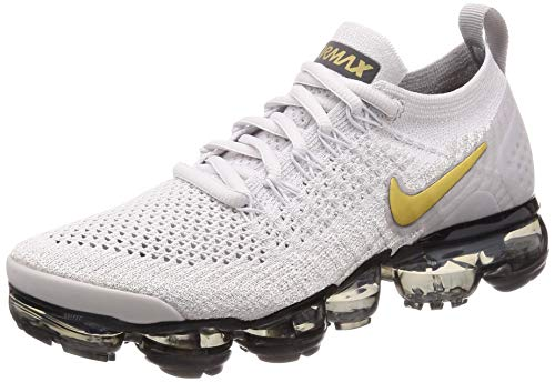 Nike W Air Vapormax Flyknit 2, Chaussures d'Athlétisme Femme, Multicolore (Vast Grey/Metallic Gold-Pure Gris Platinum 10), 36.5 EU