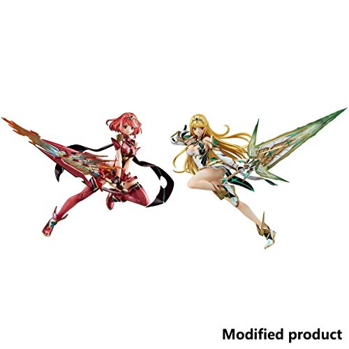 Siyushop Xenoblade Chronicles 2: Pyra PVC Figure - Mythra PVC Figura (Juego De 2)