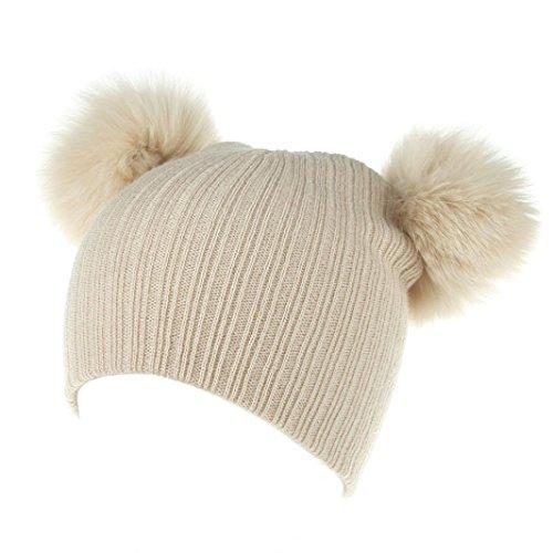 Babybekleidung Hüte & Mützen Longra Baby Neugeborene Nette Mode behalten Mädchen Jungen Wintermütze Winterhüte Strickwolle strickmütze Wollemütze(0-36 Monate) (Khaki)