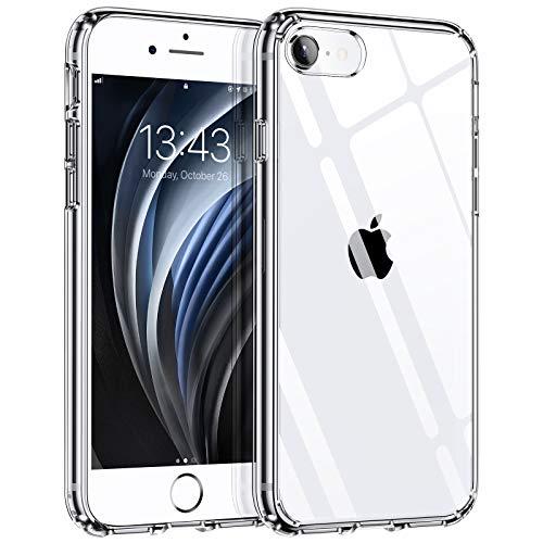 Hülle kompatibel mit iPhone SE 2020 iPhone 8 iPhone 7, Syncwire Transparent Kratzfest Schutzhülle, Anti-Gelb Luftkissen Fallschutz Silikon Handyhülle Case mit Robuster Harte-PC Rückseite