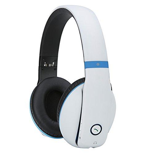 Whitelabel AncStudio Bluetooth-Stereo-Kopfhörer mit aktiver Geräuschunterdrückung NFC Pairing Mikrofon einer Freisprecheinrichtung drahtlose Stereo-Kopfhörer Hallo-Fi-Headset kompatibel mit Bluetooth Aktivieren Smart Phones, Tablets, Computer und Andere Geräte (Weiß)