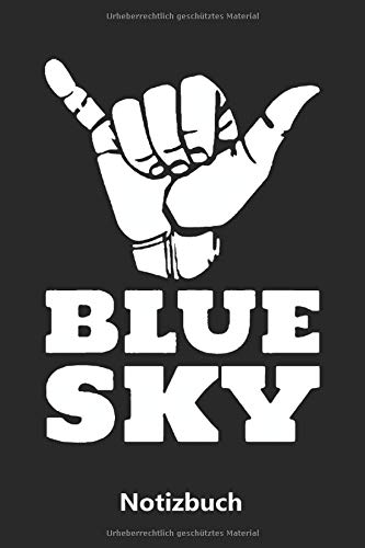 Notizbuch: BLUE SKY - Fallschirmspringen (liniert | 100 Seiten)