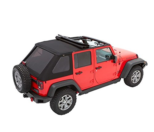 Bestop 56853-35 Black Diamond Trektop for 2007-2018 Jeep Wrangler JK Unlimited 4-Door
