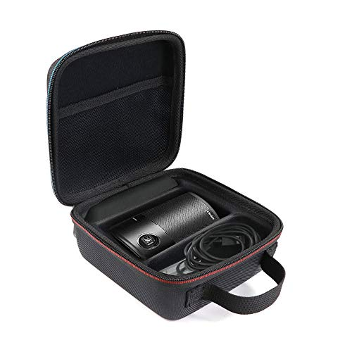 Travel Case for Anker Nebula Capsule Premium Protection Projector Carry Bag Can Extra Accommodate The Remote Control, Charger Plug, USB Cable etc. (Black)