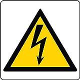 ►Segnaletica di Sicurezza sul lavoro - Segnali di Pericolo - ALTA TENSIONE - PVC Adesivo f.to 180x180 mm(10.016)