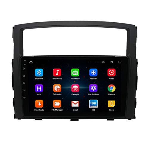 Sistema De Navegación Sat Nav GPS, Alertas De Cámaras De Velocidad Y Asistencia De POI Lane Actualizaciones a Través De WiFi, Suitable for Mitsubishi Pajero (2006-20