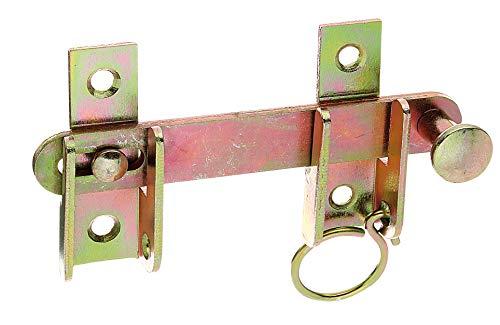 GAH-Alberts 314446 Schlagladen-Überwurf | mit Feststell-Vorrichtung | galvanisch gelb verzinkt | Größe 120 x 65 mm