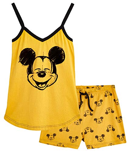 Disney Lounge Wear - Set de pijama para mujer, 100% algodón, Mickey Mouse y Minnie Mouse