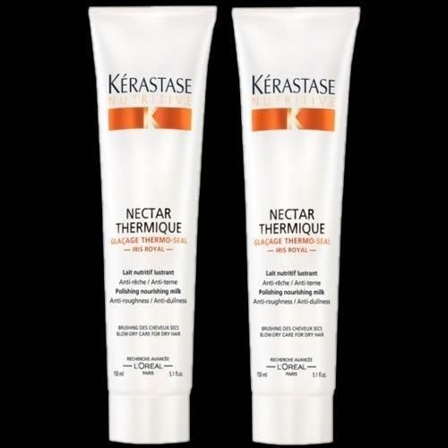 Kerastase Nutritive Nectar Thermique Hitzeschutz-Pflegemilch/Haarversiegelung, Doppelpack
