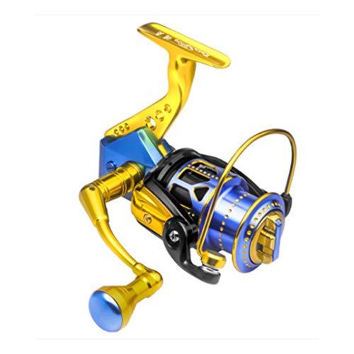 MMAXZ Rueda giratoria Trel de Pesca Todo metálico Carrete de Pesca Reel Largo Luya Universal Mar Rod Rueda de la Rueda de Pesca al Aire Libre