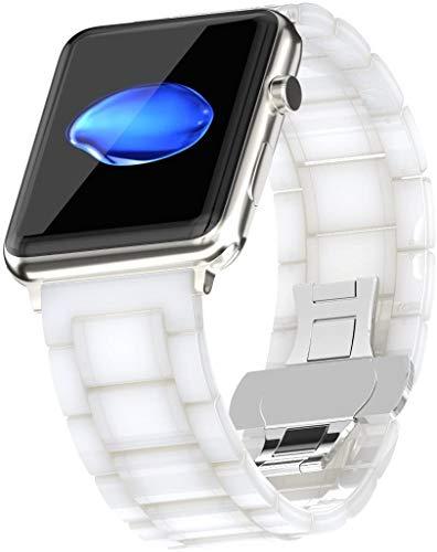 VeveXiao Compatible con Apple Watch Band 38 mm, 40 mm, 42 mm, 44 mm, mujeres y hombres, cerámica de acero inoxidable, correa de repuesto para Apple Watch Series 6 5 4 3 2 1SE