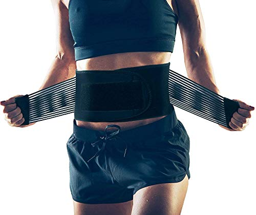 AllyFlex Adjustable Back Brace and Lumbar Support for Women and Men, Orthopedic Back Belt for Lower Back Pain Relief and Posture Correction, Medium