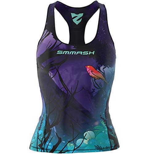 SMMASH Neverland Sport Top Tank para Mujer, Camiseta de Tirantes Deportivas, Camiseta sin Manga para Fitness, Yoga, Formación, Material Transpirable y Antibacteriano, (S)