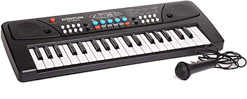 Amisha Gift Gallery 37 Key Keyboard Toy with Mic DC Power Option for Boys and Girls (Recording Charger not Included, Multicolour)