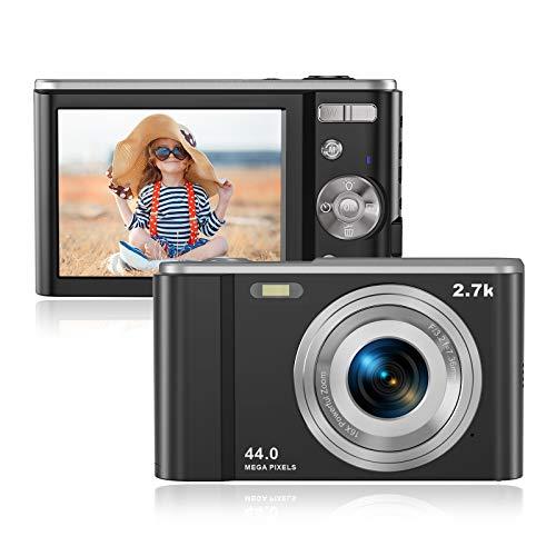 Digitalkamera, Foto Kamera 44 Megapixel 2,7K HD Mini-Taschenkamera, Rokurokuroku 2,88