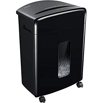 Bonsaii 20-Sheet Heavy Duty Cross-Cut Paper and Credit Card Shredder with 6.6 Gallon Pullout Basket and 4 Casters, 20 Minutes Running Time, Black (C222-A)