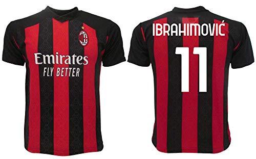 Ibrahimovic Milan 2021 - Camiseta oficial 2020-2021 para adulto niño Ibra Zlatan 9 Nueve (12 años)