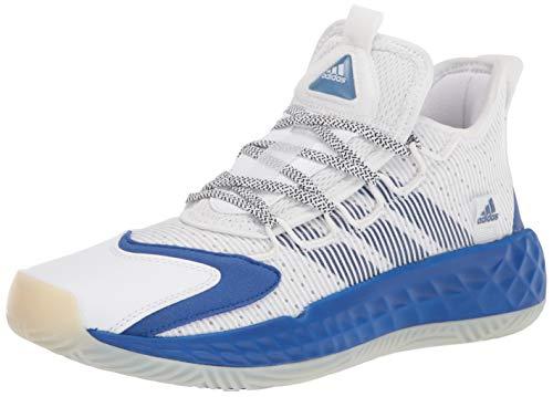 adidas unisex adult Coll3ctiv3 2020 Low Basketball Shoe, White/Royal Blue/White, 8 US