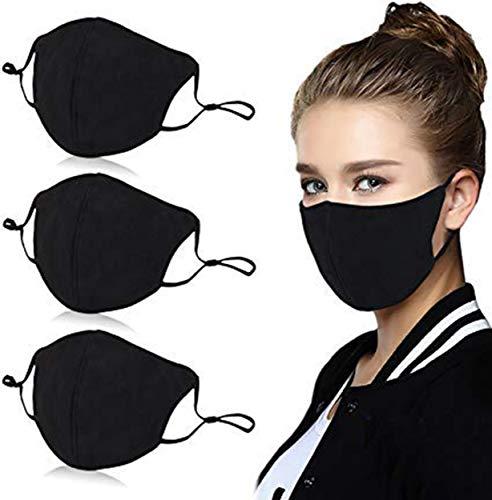 3 PCS Reusable Cotton 4 Layer Protective Face Protector …