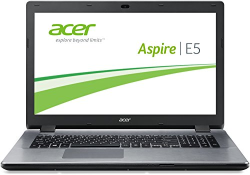 Acer Aspire E5-771-36PY 43,94 cm (17,3 Zoll HD+) Laptop (Intel Core i3-4005U, 1,7GHz, 4GB RAM, 500GB SSHD, Intel HD Graphics 4400 , Win 8.1) silber