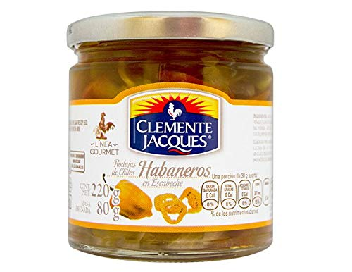 Clemente Jaques - Scheiben eingelegter Habanero-Paprika Zu den besten Mahlzeiten - 220 g Flasche