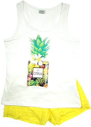 Mayoral Mädchen Kindermode-Set 2-teilig T-Shirt & Shorts Citrus, gelb, Gr. 152 (152)