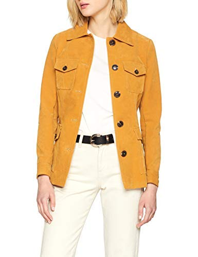 Chaqueta amarilla grande para mujer