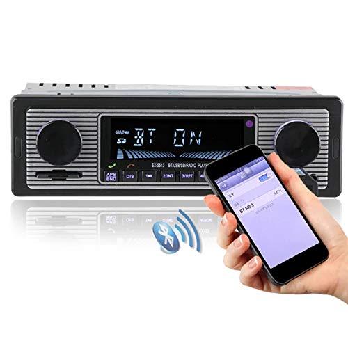SYXZ Reproductor de Radio de Coche de 12V Bluetooth, Radio estéreo Auto Audio Auxiliar de la electrónica de FM MP3 USB SD,12vshort5513 ISO