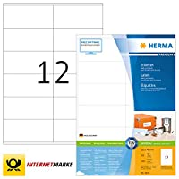 (permanent adhesive, 2400 pcs.) - HERMA 4635 Labels Premium A4 105x48 mm white paper matt 2400 pcs.