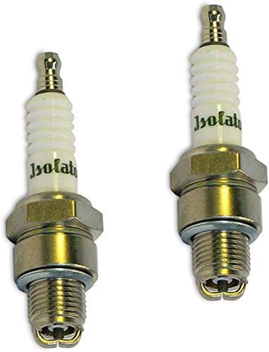 2x Doppel-Pin TUNING Zündkerze M14-260 Isolator Spezial Kopf geriffelt für Simson