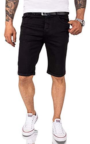 Rock Creek Herren Shorts Jeansshorts Denim Short Kurze Hose Herrenshorts Jeans Sommer Hose Stretch Bermuda Hose RC-2209 Schwarz W42