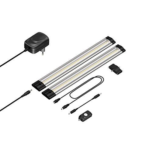 parlat LED Unterbau-Leuchte Siris, Bewegungsmelder, flach, 30cm, 330lm, weiß, 2er Set
