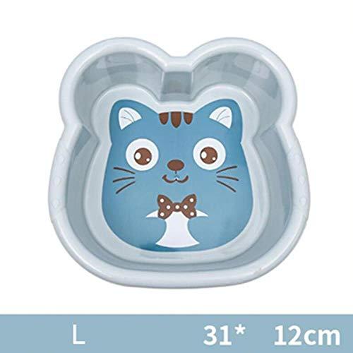 Hot 1PC wastafel plastic schoteltje leuk karikatuur-badkuip badkuip pasgeboren kind gezicht wast voeten badkuip baby-washtub 10300E, L-blauw