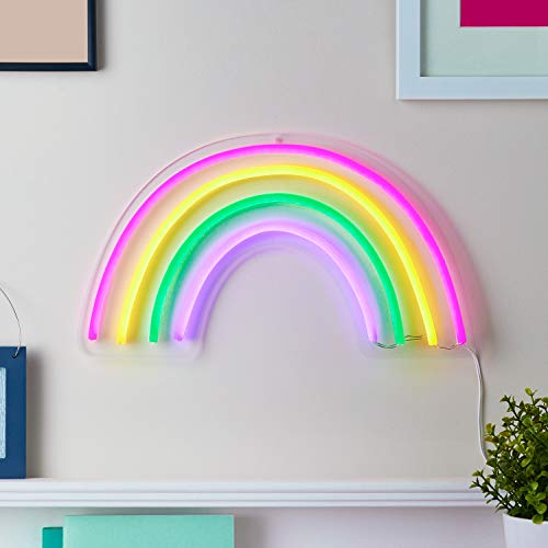 Lights4fun 188 luces LED neón, arcoíris con temporizador, 35 cm