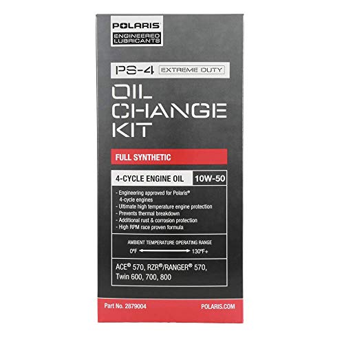 Polaris Full Synthetic Oil Change Kit, 2 Qts. of PS-4 Extreme Duty Engine Oil and 1 Oil Filter