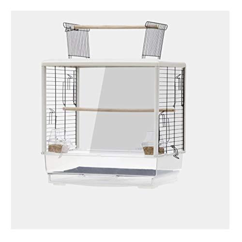 liushop Bird Cage Parrot Bird Cage Large Luxury Breeding Cage Bird Cage Transparent Ornamental Bird Cage Portable Small Sized Birds Travel Birdcage Pet Supplies (Color : C)