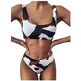 BOLANQ Vêtements Damen Bikini Print Set Badeanzug Einteiler Gefüllter BH Badebekleidung Beachwear