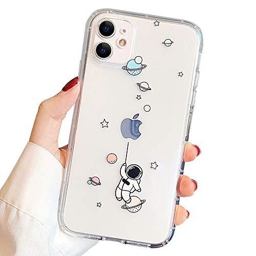 Ownest Kompatibel mit iPhone 11 Hülle für klare kreative Astronauten süßes Cartoon-Muster weiche TPU-Schutzhülle dünn stoßfest für iPhone 11 (Ballon)