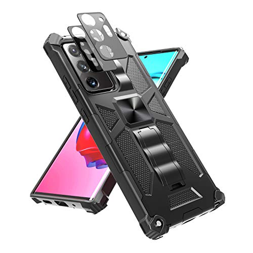 YEHUA for Samsung Galaxy Note 20 Ultra Case [ Military Grade ] 15ft Drop Tested Rugged Armor Protective Cover with Kickstand and 2 Camera Lens Protectors