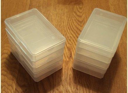 Größe: Normal für Skat-, Quartettkarten - Zubehör - 10 Stück x Leeretui Leerbox Kunststoffbox Ersatzcover Ersatzhülle Spielkartenbox Kartenbox für Quartette Kartenspiele Kartenschachtel, Kartenetui