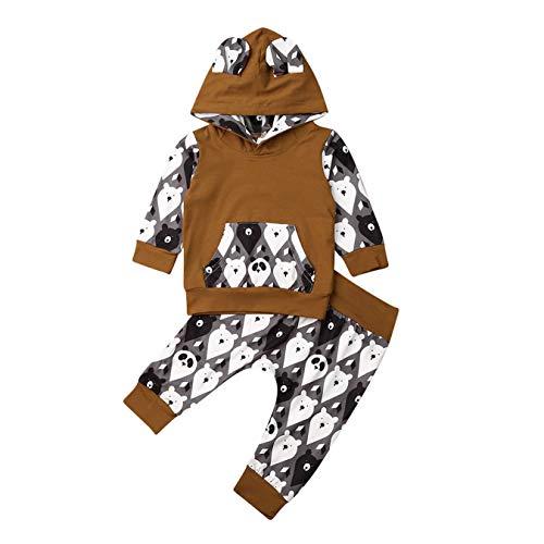 Peuter Baby Jongens Meisjes Pasen Cartoon Gedrukt Lange Mouw Hoodies+ Lange Leggings Broek Kleding Set