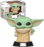 ZXZX Funko Pop Star Wars Mandalorian Hand Office Aberdeen Decoración Modelo Yoda Niños 368 Little Yo...
