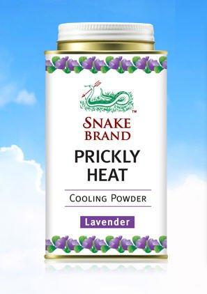Snake Brand Prickly Heat Cooling Lavender Powder 150g.