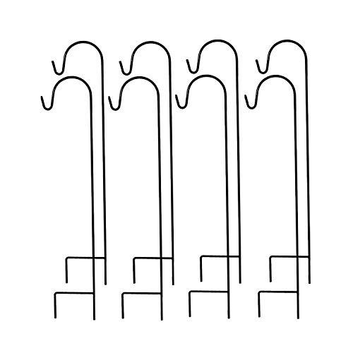 MTB Single Shepherd Hook 35 Inch by 9.5 Inch, Black, Pack of 8